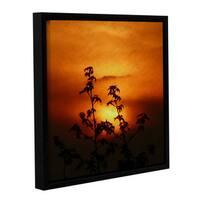ArtWall Scott Medwetz 'Westview Sunset' Gallery-wrapped Floater-framed Canvas Wall Art