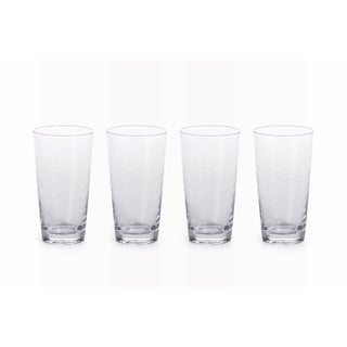 """Keely Fish Cut"" 6.25"" Tall Highball Glass (Set of 4)"