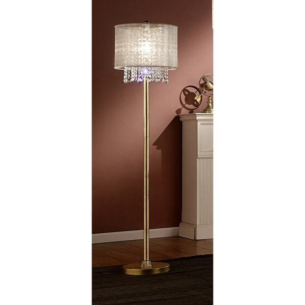 Ore International Bhavya Collection Crystal Living Room Floor Lamp