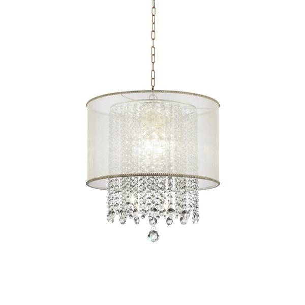 Ore International Bhavya Traditional Crystal Ceiling Lamp Chandelier - N/A