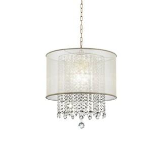 Ore International Bhavya Traditional Crystal Ceiling Lamp Chandelier
