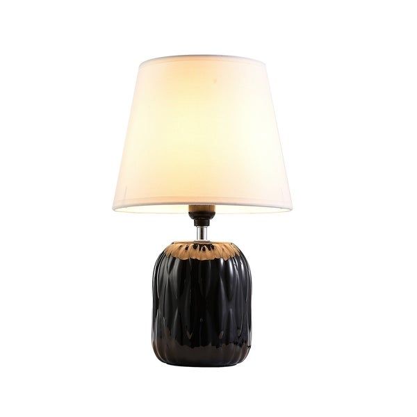 Shop ore international indira black ceramic living room - Black table lamps for living room ...