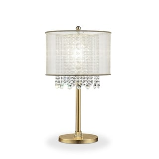 Link to Ore International Bhavya Collection Traditional Crystal Table Lamp Similar Items in Table Lamps