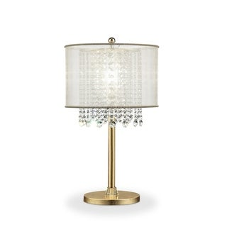 Ore International Bhavya Collection Traditional Crystal Table Lamp