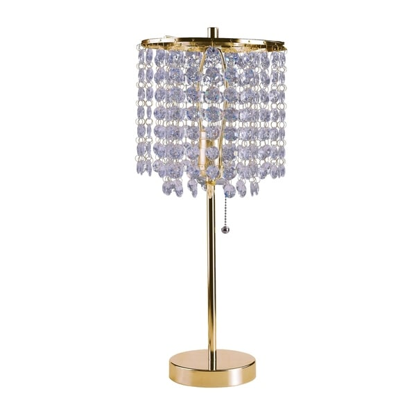 Shop Ore International Deco Glam Stylish Gold Crystal Beaded Table