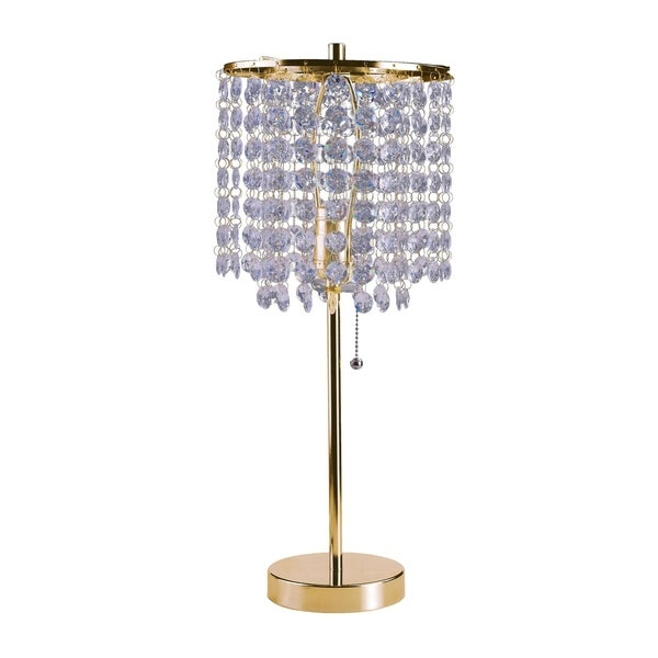 dbaeccb8f Shop Ore International Deco Glam Stylish Gold Crystal Beaded Table Lamp -  Free Shipping Today - Overstock - 17488558