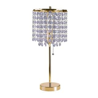 Ore International Deco Glam Stylish Gold Crystal Beaded Table Lamp https://ak1.ostkcdn.com/images/products/17488558/P23717159.jpg?impolicy=medium