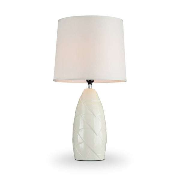 Shop Ore International Amalia Ivory Ceramic Living Room Table Lamp ...