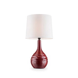 Ore International Kapila Red Ceramic Living Room Table Lamp
