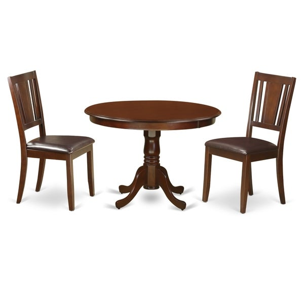 Shop HLDU3-MAH-LC 3 Pc Set With A Round Kitchen Table And