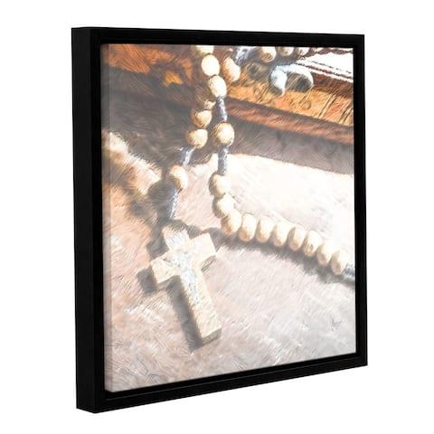 ArtWall Scott Medwetz 'Serenity Rosary' Gallery-wrapped Floater-framed Canvas Wall Art