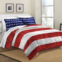 Destinations Stars and Stripes Camo Cotton 3-piece Comforter Set
