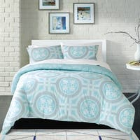 Loft Style Tile Cotton 3-piece Comforter Set