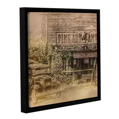 ArtWall Scott Medwetz 'Fine Art Antiques Wyoming ' Gallery-wrapped Floater-framed Canvas