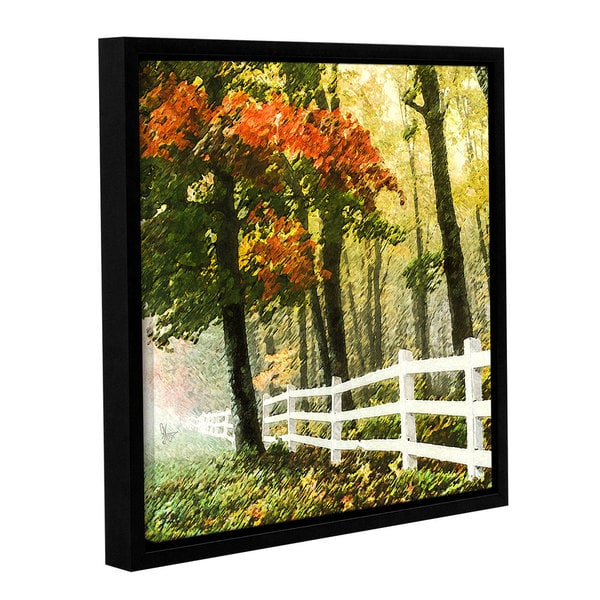 ArtWall Scott Medwetz 'Fall Foliage' Canvas Gallery-wrapped Floater-framed Art