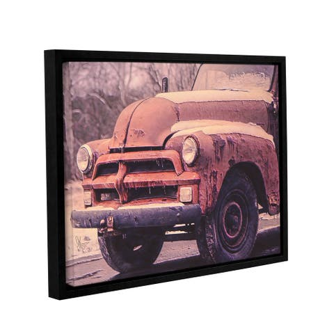 Scott Medwetz 'Deserted Rust' Gallery-wrapped Floater-framed Canvas