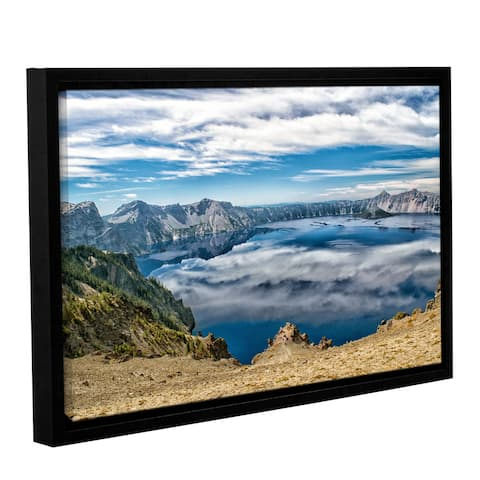ArtWall Frank Wilson's 'Sky Reflections in Crater Lake' Gallery-wrapped Floater-framed Canvas