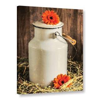 The Gray Barn Scott Medwetz's Gerbera Milk Jug Gallery Wrapped Canvas Art