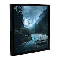 ArtWall Scott Medwetz 'Colorado River' Gallery-wrapped Floater-framed Canvas