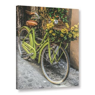 ArtWall Scott Medwetz 'Bicycle Flower Basket' Gallery-wrapped Canvas|https://ak1.ostkcdn.com/images/products/17488945/P23717516.jpg?impolicy=medium
