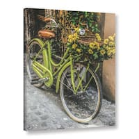 ArtWall Scott Medwetz 'Bicycle Flower Basket' Gallery-wrapped Canvas