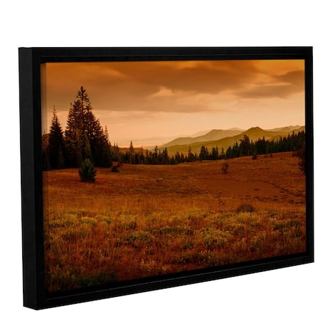 Frank Wilson 'End of Day' Gallery Wrapped Floater Framed Canvas Wall Art