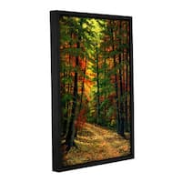 Frank Wilson 'Deep in the Forest' Gallery-wrapped Floater-framed Canvas