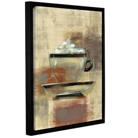 ArtWall Silvia Vassileva 'Cafe Classico II Neutral' Gallery-wrapped Floater-framed Canvas Wall Art