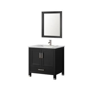 30 inch Belvedere Espresso Bathroom Vanity with Marble Top