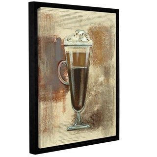 Silvia Vassileva 'Cafe Classico I Neutral' Gallery Wrapped Floater-framed Canvas