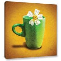 Scott Medwetz 'Green Flower Cup' Gallery-wrapped Canvas Art