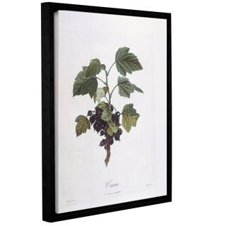 Art Wall Pierre Jean Francois Pturpin 'Blackcurrant' Gallery-wrapped Floater-framed Canvas Wall Art