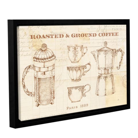Art Wall Daphne Brissonnet 'Authentic Coffee I' Gallery-wrapped Floater-framed Canvas Wall Art