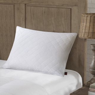 Woolrich White 300 Thread Count Cotton Sateen Diamond Quilted Feather Pillow