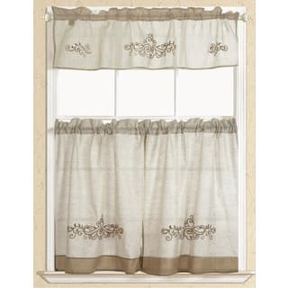 RT Designers Collection Rustic Embroidered Scroll Tier and Valance Kitchen Curtain Set|https://ak1.ostkcdn.com/images/products/17490063/P23718465.jpg?impolicy=medium