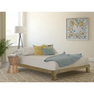 Vesta Gold Metal Slatted Platform Bed