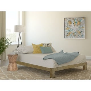 Vesta Gold Metal Slatted Platform Bed