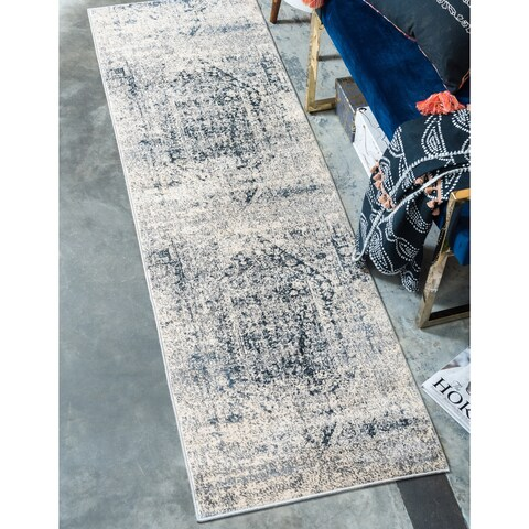 Unique Loom Quincy Chateau Runner Rug - 3' x 13'