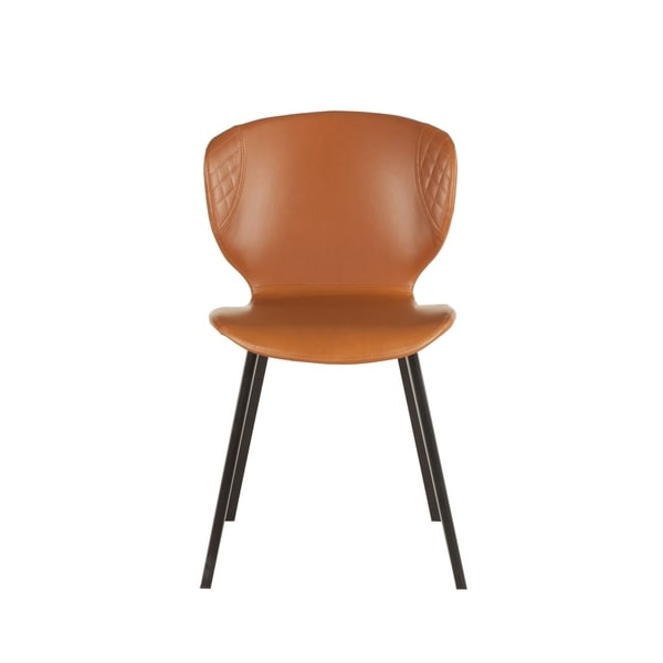 Set of Two Hudson Tan Eco-Friendly Leather Dining Chairs