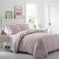 Poppy & Fritz Aubrey Flannel 3-piece Duvet Cover Set