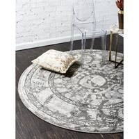 Hand Hooked Charlotte Charcoal Multi Rug 3 Round