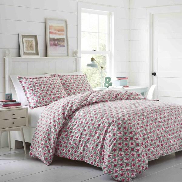 Poppy & Fritz Aubrey Flannel 3-piece Comforter Set