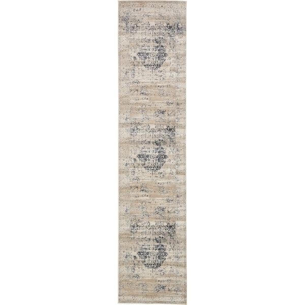 Unique Loom Hoover Chateau Runner Rug - 3' x 13' Runner