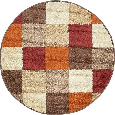 Unique Loom Autumn Patchwork Area Rug