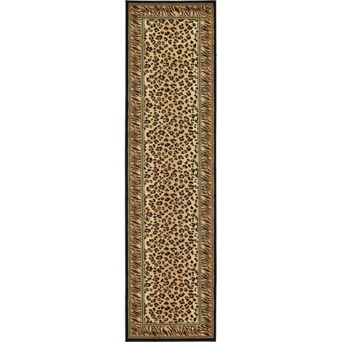 """Unique Loom Cheetah Wildlife Runner Rug - 2'7"""" x 10' Runner"""