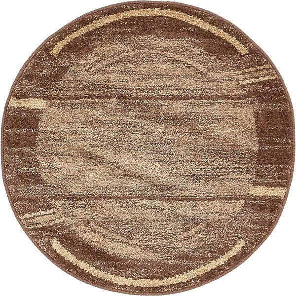 Unique Loom Autumn Foilage Round Rug - 3' 3 x 3' 3