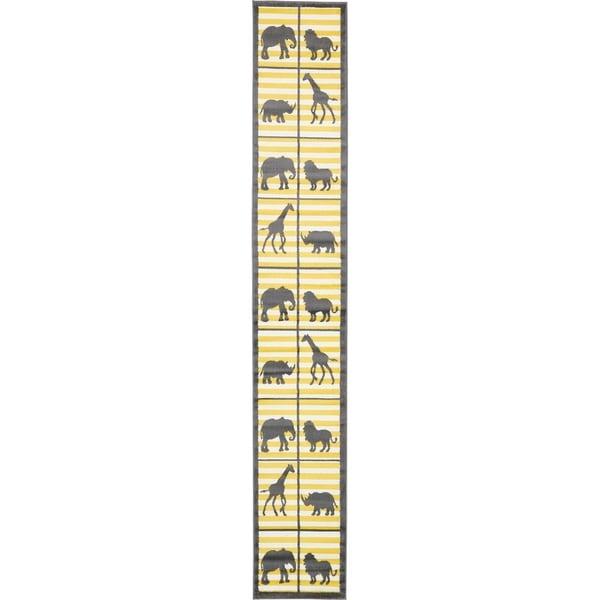 Unique Loom Metro Jungle Love Runner Rug - 2' 0 x 13' 0