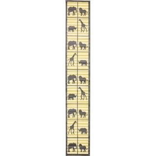 Metro Gray/Yellow Check Runner Rug (2' x 13'