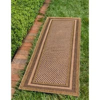 Unique Loom Multi Border Outdoor Runner Rug - 2' 2 x 6' 0