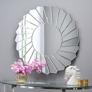 Drema Glam Sunburst Accent Mirror by Christopher Knight Home - Clear